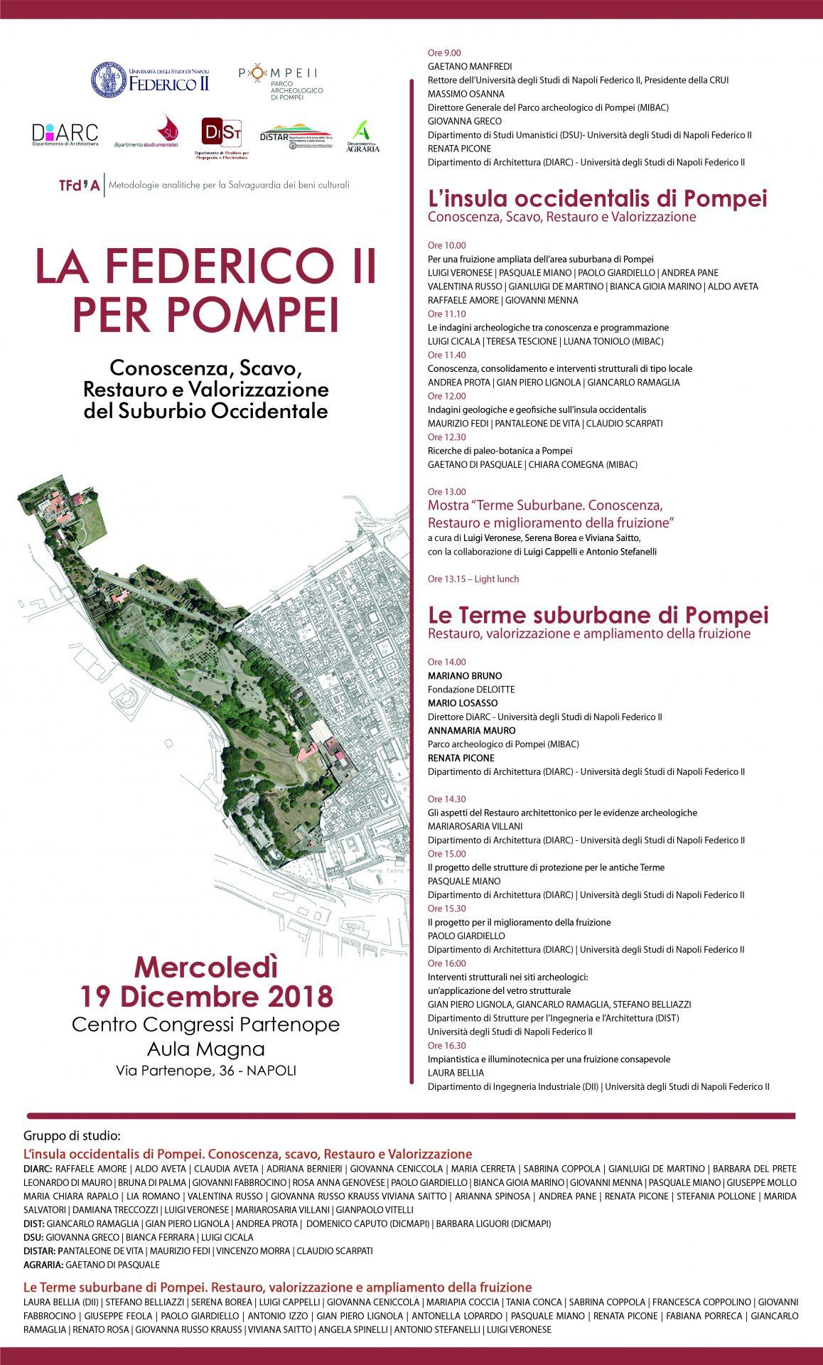 """""""La Federico II per Pompei. Conoscenza, scavo, restauro e valorizzazione del Suburbio Occidentale"""""""