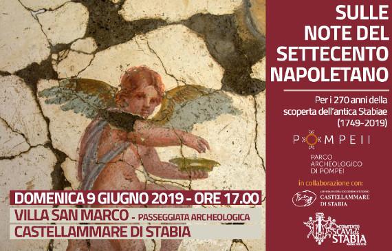 """""""Sulle note del Settecento napoletano"""", a Villa San Marco si festeggiano i 270 anni dalla scoperta dell'antica Stabiae"""